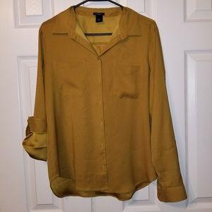 Ann Taylor Factory button up blouse - M